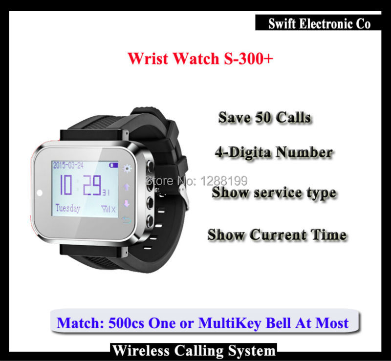 ФОТО 2016 New Arrival,Wireless Pager Watch K-300 for Restaurant Customer Call System