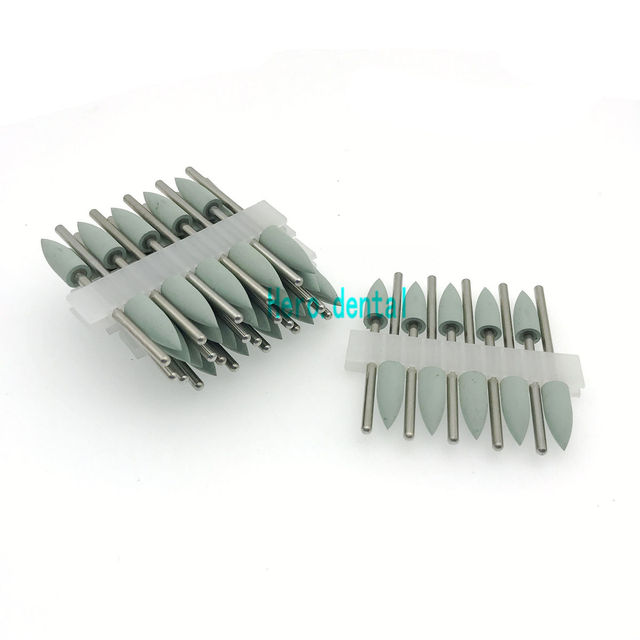 Type 406 light green Dental Silicone Rubber Resin Base Hidden Denture Polishing Burs 50pcs
