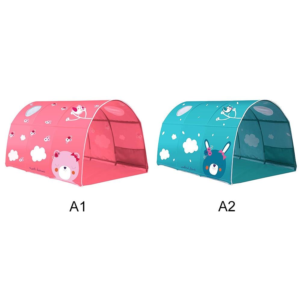 2 couleur bébé jouer jouet tente pour enfants chambre grand espace enfants Wigwam Portable intérieur extérieur toile tipi tente jouet bébé tente lit - 6
