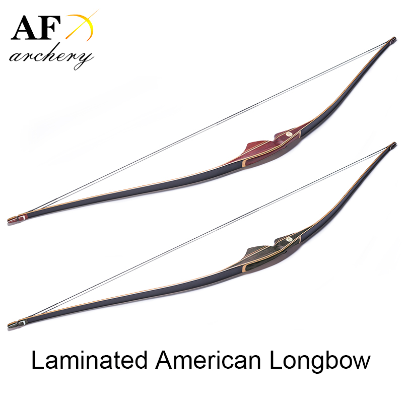 Archery Laminated American Long Bow Recurve Bow for Shooting and Hunting 3 color 30 50lbs recurve bow 56 american hunting bow archery with 17 inches metal riser tranditional long bow hunting