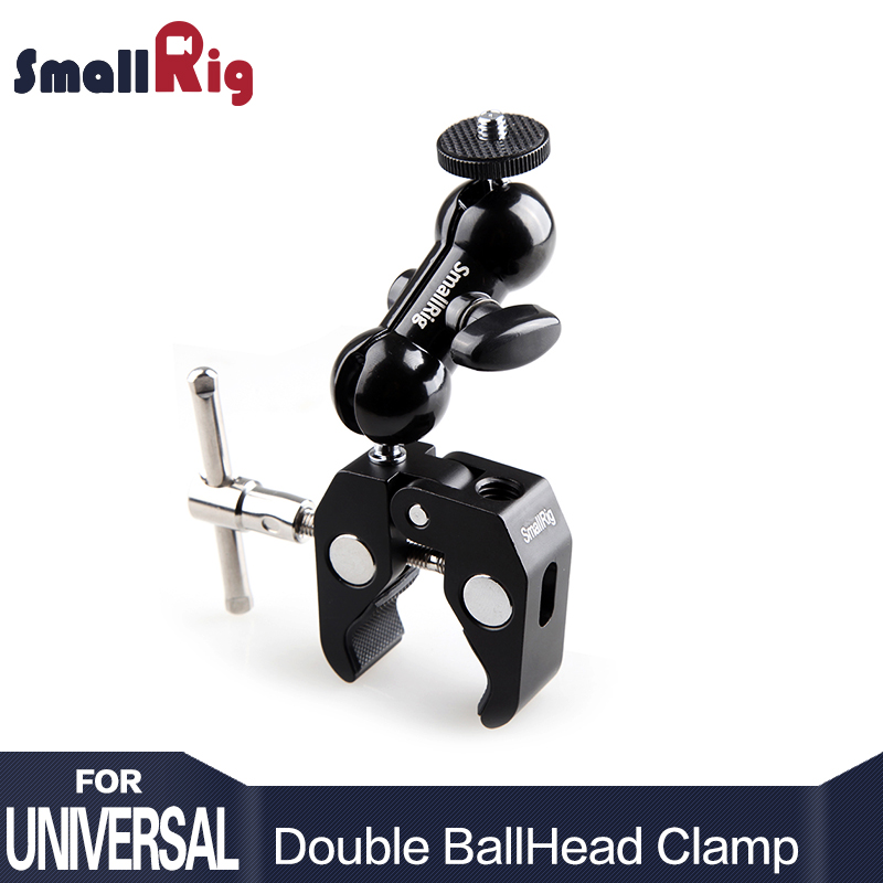 SmallRig Cool Ball Adattatore Testa Braccio V4 Multi-funzione con Fondo Morsetto per DJI Ronin Gimbal DSLR Monitor LCD della Fotocamera LED-1138