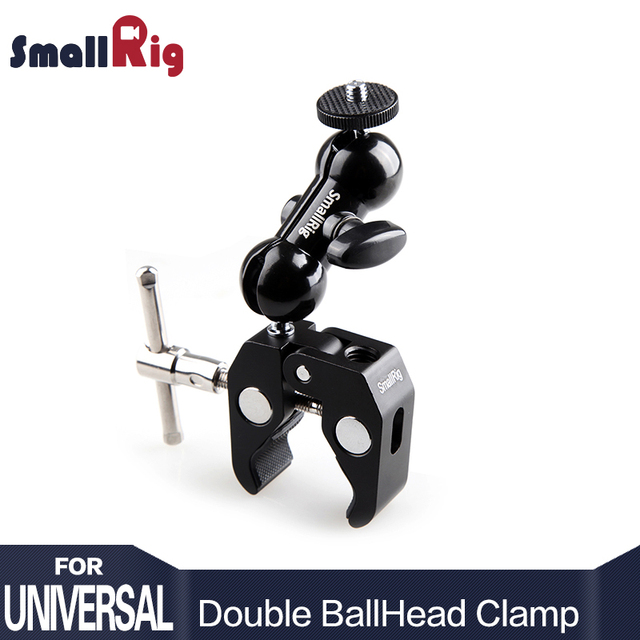 SmallRig Cool Ball Head Adapter Arm V4 Multi-function with Bottom Clamp For DJI Ronin Gimbal DSLR Camera LCD Monitor LED – 1138