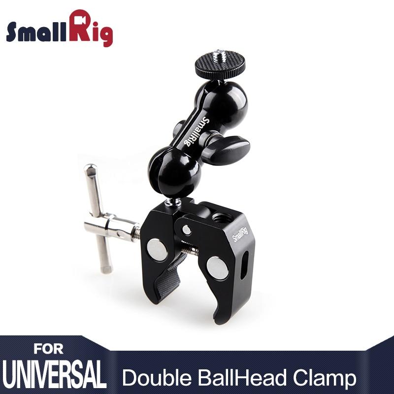 SmallRig Cool Ball Head adaptador brazo V4 multifunción con fondo para DJI Ronin Gimbal DSLR Cámara LCD monitor LED-1138