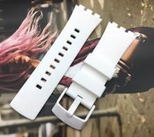 Bracelet de montre blanc de qualité supérieure bracelet de montre pour montre pour série tactile Silicone 22mm boucle en acier inoxydable logo sur SURW100