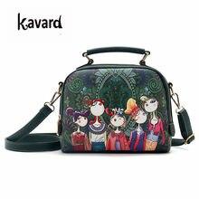 30e134ab60 Kavard piccola crossbody Progettista verde Flap borse per Le Donne Borse  Foresta Borsa di cuoio delle signore mano borsa Sac a m.