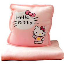 Cartoon pillow blanket three-in-one hand warmer quilt dual-use coral fleece cushion