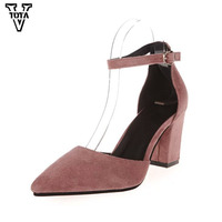 2017 Fashion High Heels Newest Women Pumps Summer Women Shoes Thick Heel Pumps Comfortable Shoes Woman