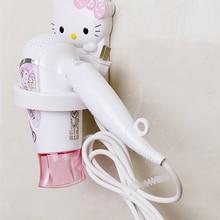 4 шт. Мультяшные аксессуары для ванной комнаты Doraemon пластиковый фен для волос держатель KT полка для ванной комнаты