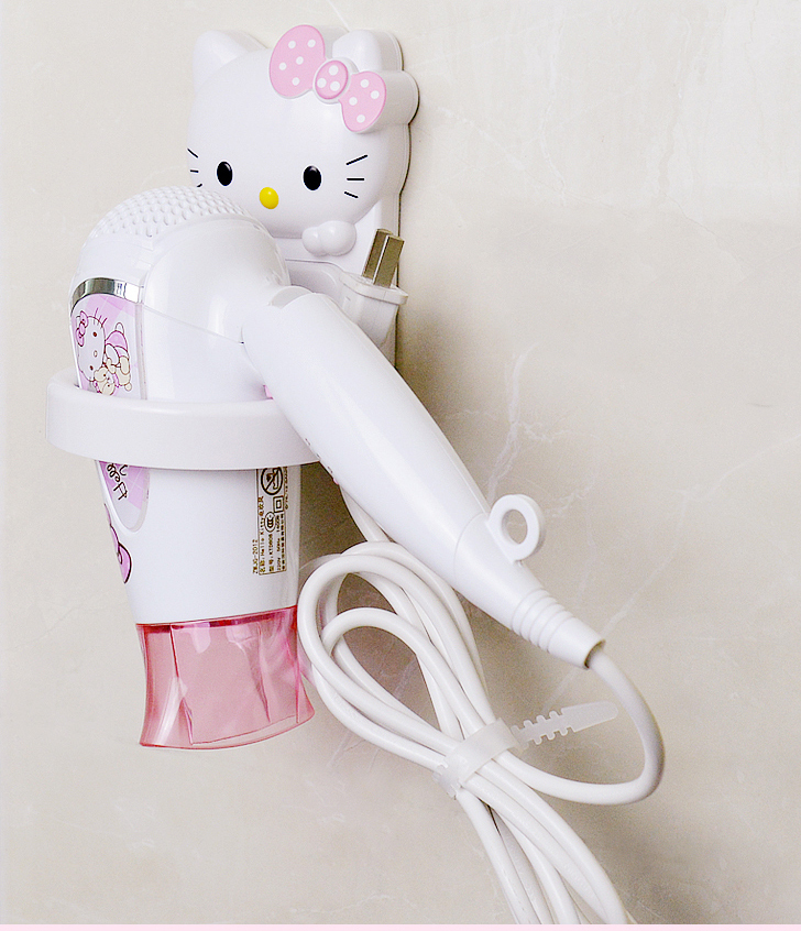 hello kitty bathroom set. kawaii bathroom accessories hello kitty doraemon plastic hair dryer holder kt shelf-in storage holders \u0026 racks from home garden on aliexpress.com set