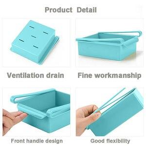 Image 4 - Novo quadrado geladeira caixa de armazenamento fresco espaçador camada rack de armazenamento gaveta espécie acessórios da cozinha pendurado organizador