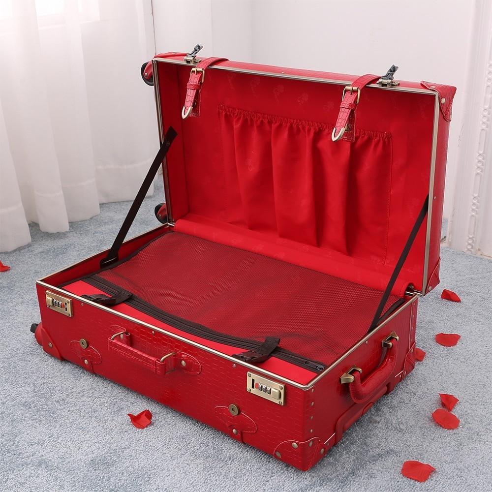 De Valise Of Bagages Passe Case Voyage 3 1 Serrure Livraison Gratuite Pieces Supérieure 2 Carry Peau Roulant Mot Set Filles Rouge Set cosmetic Case Crocodile Piece Set Qualité 4 Spinner small xUtdqvwqX