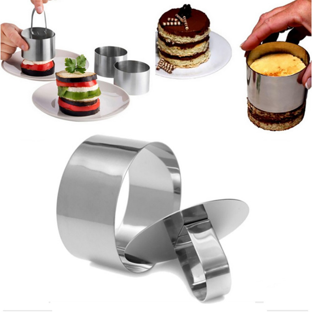 Uarter 1PCS High quality Stainless Steel Little Round Mousse Mold Fondant Mold Cake Decoration Mold for Baking ...