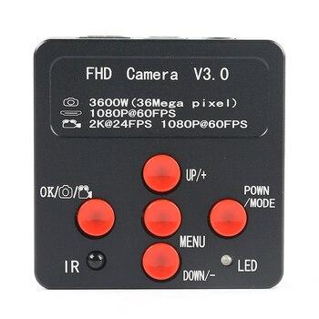 36MP 2K 720P 1080P USB HDMI Industrial Digital Microscope Camera TF Video Microscope For Phone PCB Solder Repair Lab Inspection