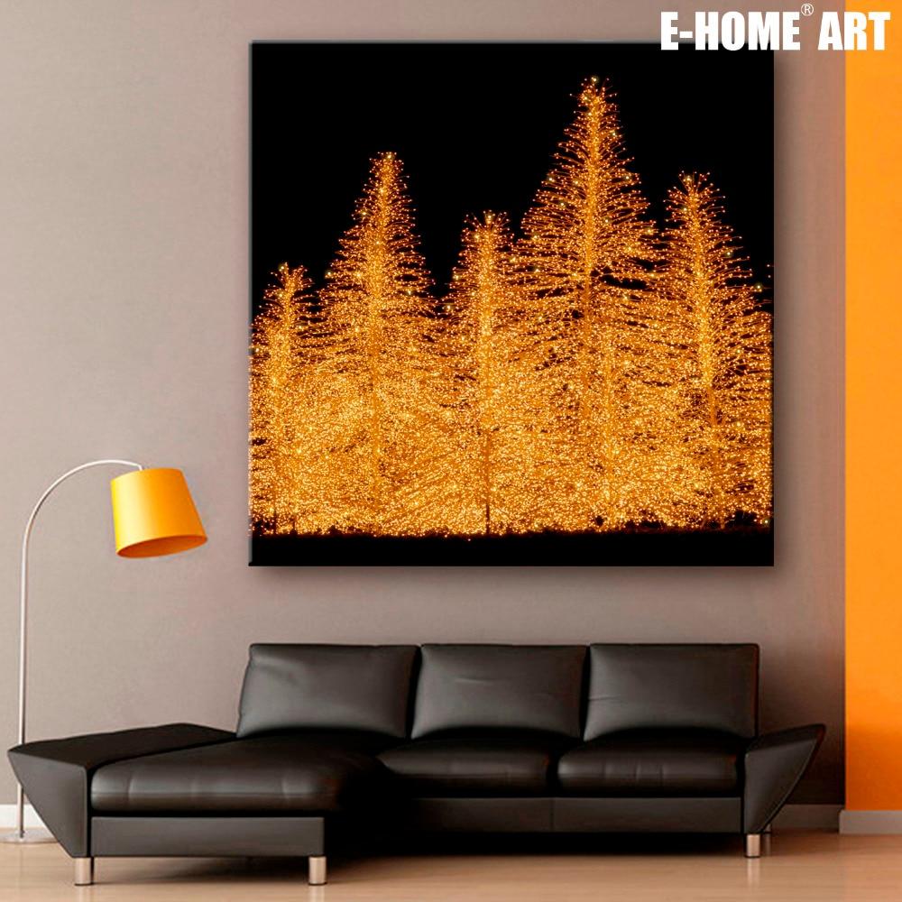 Led Wall Light Flashing: Stretched Canvas Prints Christmas Tree Christmas Series