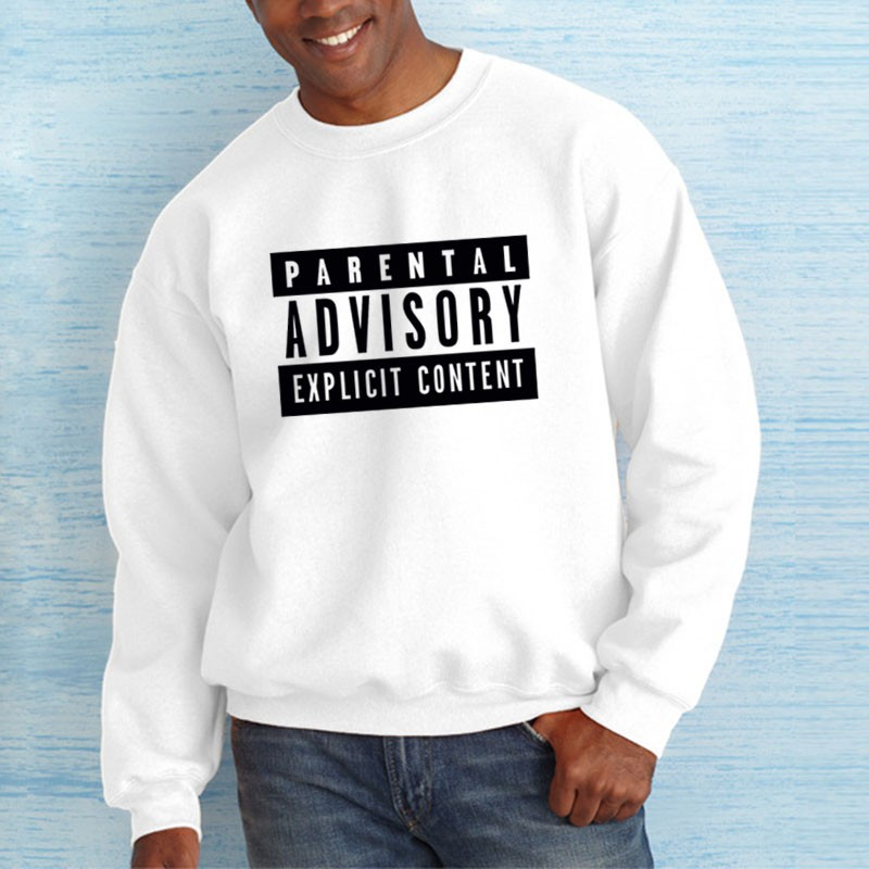 Autumn European Style fashion casual Parental Advisory ...