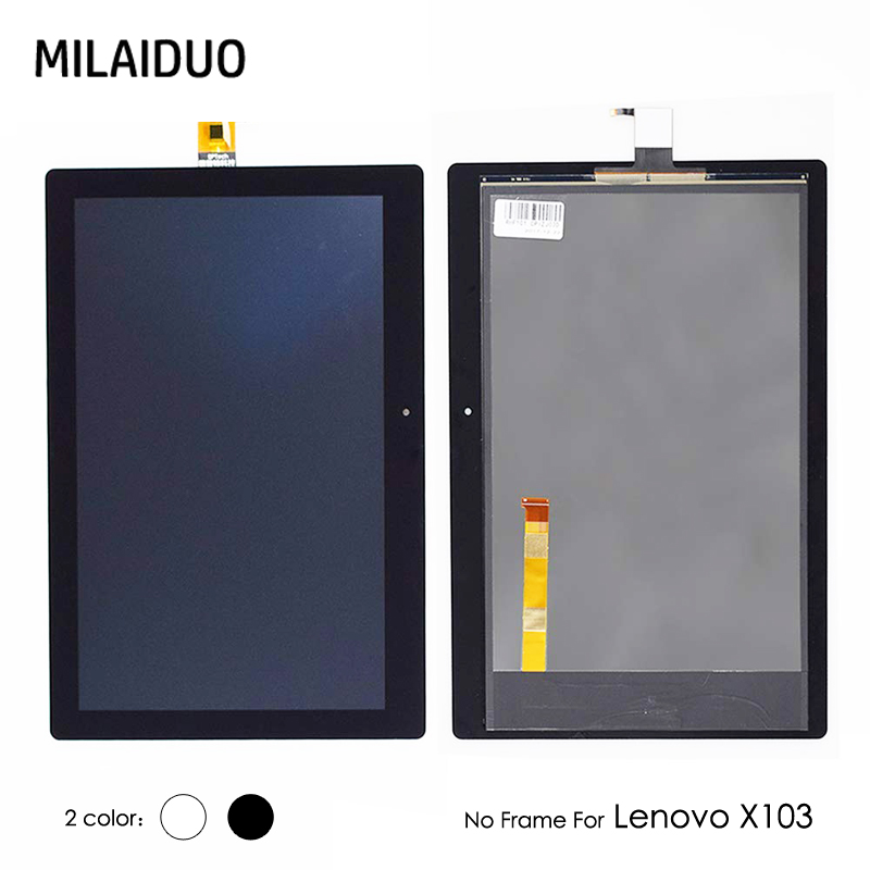 LCD Display For Lenovo X103 Tab 3 10 Plus TB-X103F TB-X103 Touch Screen Panel Digitizer Sensor Matrix Assembly No Frame 10.1'' цены