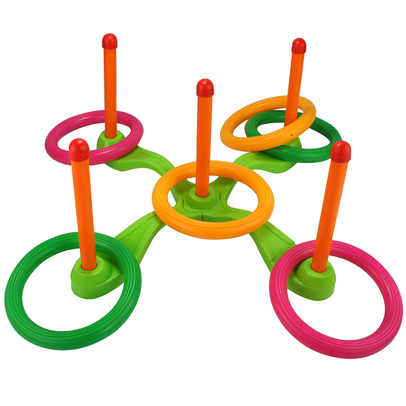 Children Outdoor Fun & toy sports Jumping Ring joy ferrule throwing game parent-child in ...