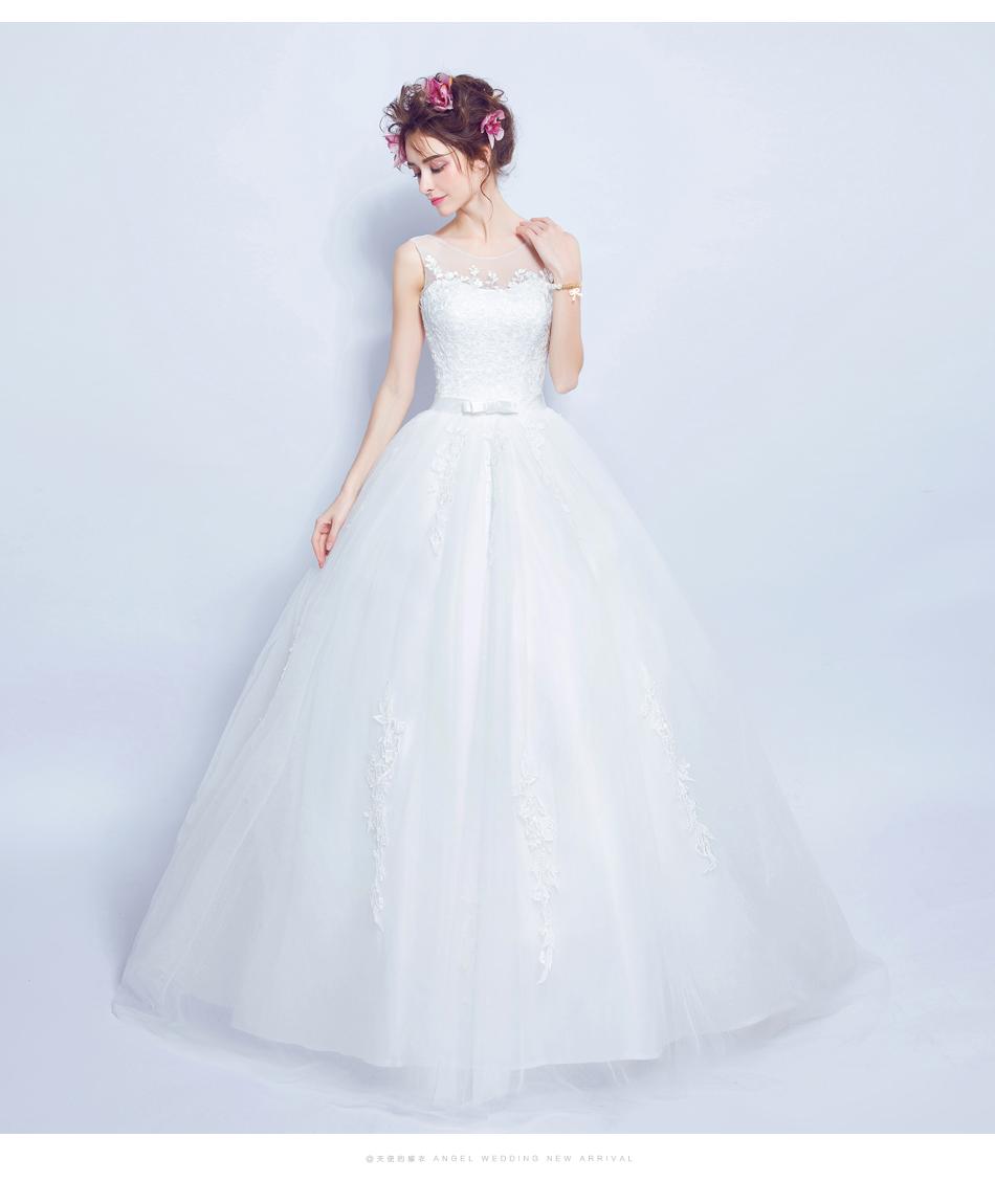 Angel Wedding Dress Marriage Bride Bridal Gown Vestido De Noiva 2017 Lace, flowers, perspective, backless 612 13