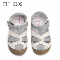 TTJ Children leather shoes Style Of Fashion Casual Boys Girls For Baby Shoes kids Anti Slip Children Sandals free shippin
