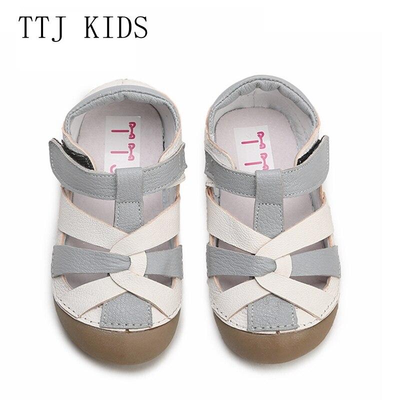 Espressive Ttj Scarpe Di Cuoio Per Bambini Di Stile Di Modo Casual Delle Ragazze Dei Ragazzi Per Scarpe Per Bambini Bambini Anti-slip Per Bambini Sandali Shippin Libero