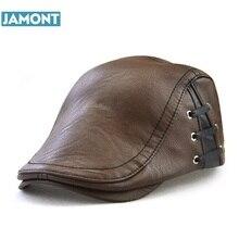 JAMONT 2019 Original Design Men's Hat Winter Visors Cap PU L