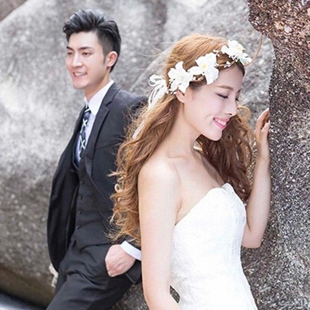 Дамская мода моделирование повязка на голову с цветком Свадебная вечеринка синий ярко-розовый красный, белый цветок для элегантных дам жен...