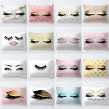 Pink Golden Lash Out Soft Velvet Cushion Cover 30x50cm Marble Pillow Cover Bedroom Sofa Decoration Pillow Cases(China)