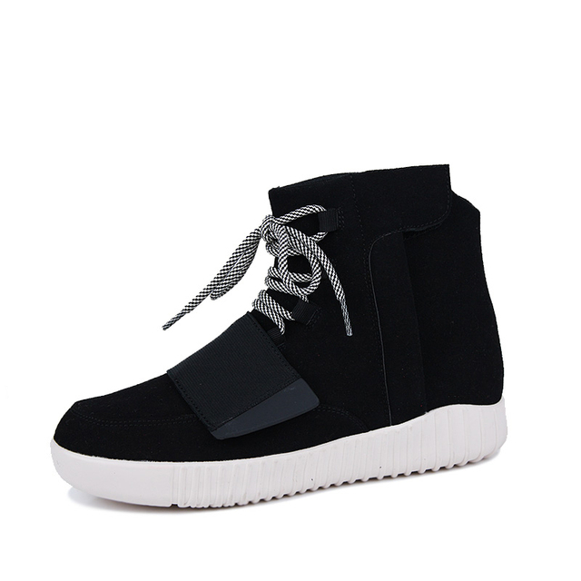 ZCHEKHEN 750 High top male suede Military Desert Boot casual kanye west hip-hop danceing shoes lace up Breathable gray black