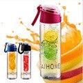 AIHOME 800 мл Велоспорт Спорт Фрукты Вливая Для Заварки Воды Lemon Чашка Сока Велосипед Здоровья Экологичный BPA Детокс Бутылка Флип-Крышкой