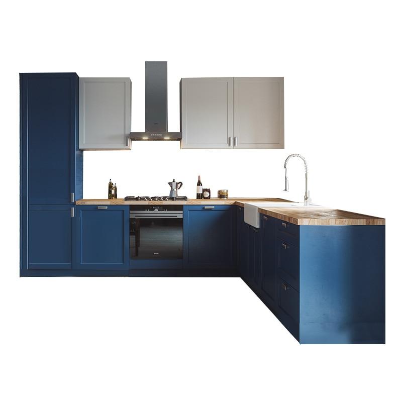 Solid Wood Small Kitchen Cabinet Fashionable Design Kitchen Furniture