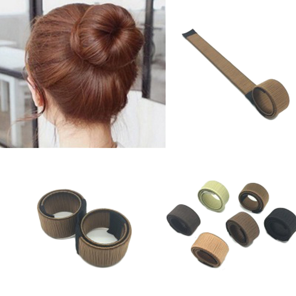 Synthetic Wig Donuts Bud Head Band Ball French Twist Magic DIY Tool Bun Maker Sweet French Dish Made Hair Band Hair Accessories заколка french twist