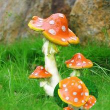 Миниатюрный орнамент в виде гриба, Toadstool, волшебный сад-Террариум, декор для кукольного домика
