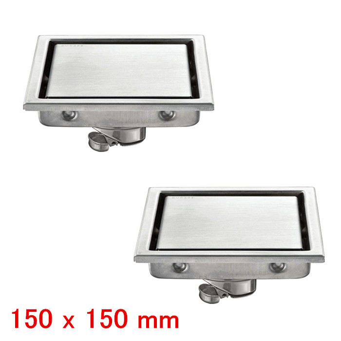 Free Shipping 2 pieces 304 stainless steel 110 x 110 or 150x 150MM shower bathroom water anti-odor floor drain floor drain DR053 цена