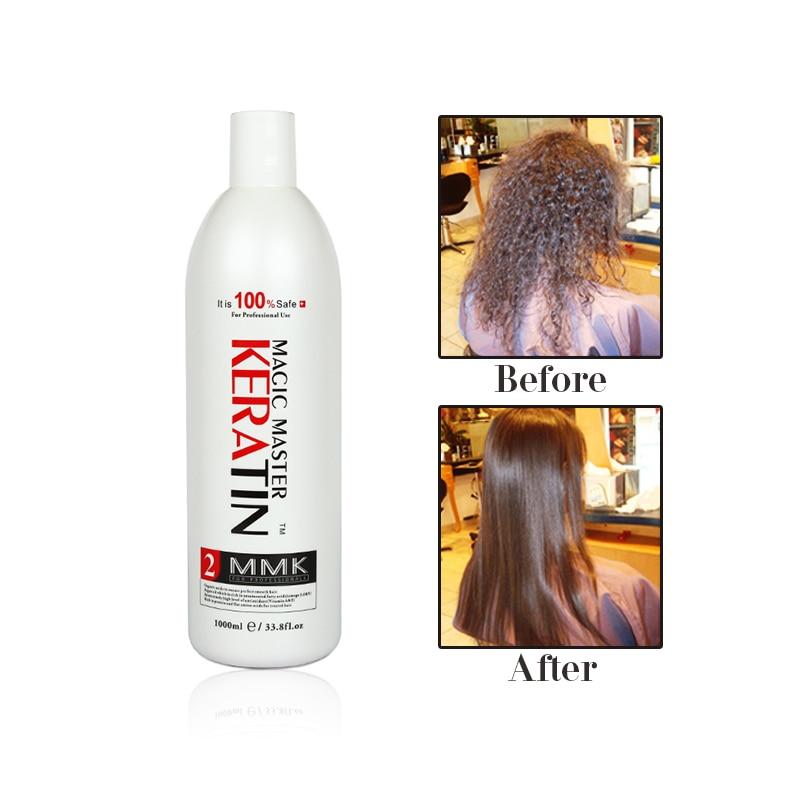 Купить с кэшбэком 1000ml Fresh Smelling Without Formalin Magic Master Keratin Hair Treatment Straight and Repair Damaged Hair