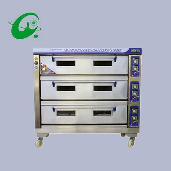 3layers 6 trays Stainless steel Commercial Electric bread toaster food oven pizza baker machine 75 135kg/h oven machine