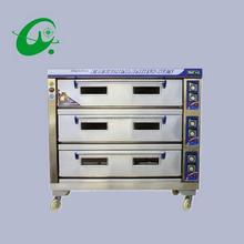 3layers 6 trays Stainless steel Commercial Electric bread toaster food oven pizza baker machine 75-135kg/h oven machine