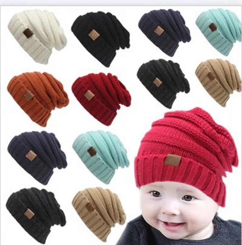 6f2946556aa Winter Hats For Kids CC Beanie Warm Hat Knit Beanies Slouchy Hats For Girls  Cute Boys