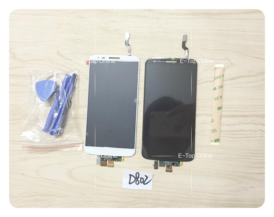 ФОТО LCD Screen For LG Optimus G2 D802 B805 LCD Display Screen + Touch Screen Digitizer Glass Assembly + tools + tracking