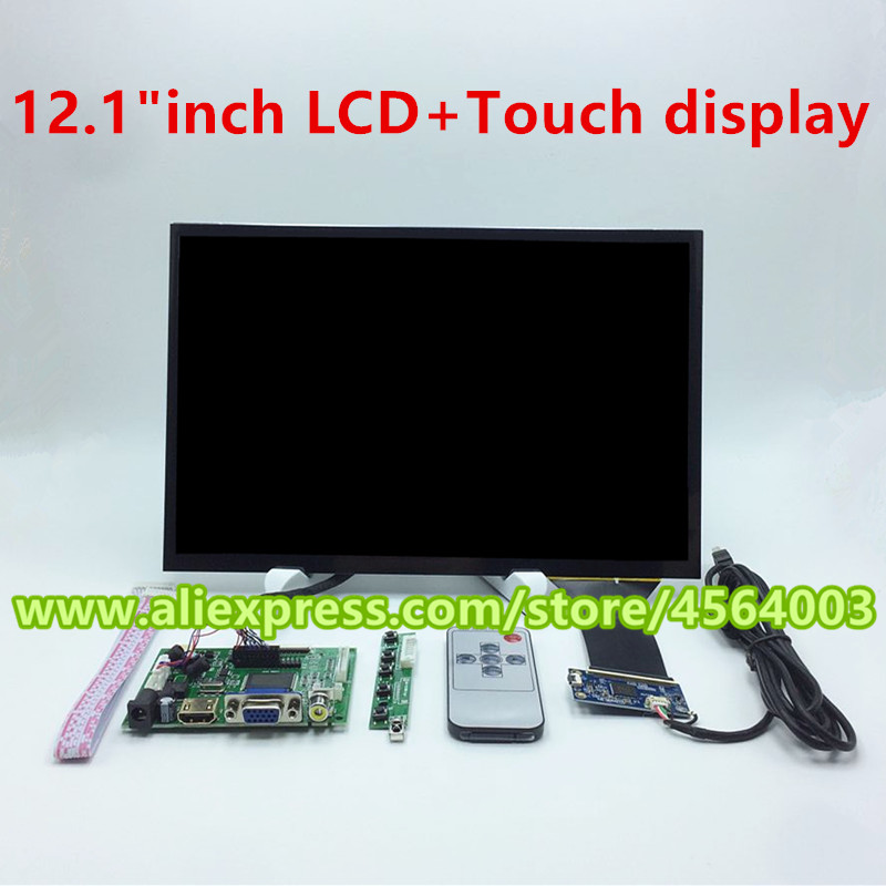 Tablet Accessories Tablet Lcds & Panels Capacitive Touch Screen Driver Board Pc Monitor Hdmi Module Kit Generous 12.1 Inch Hdmi+vga+2av Laptop Lcd Control Lp121wx3 Tlc1