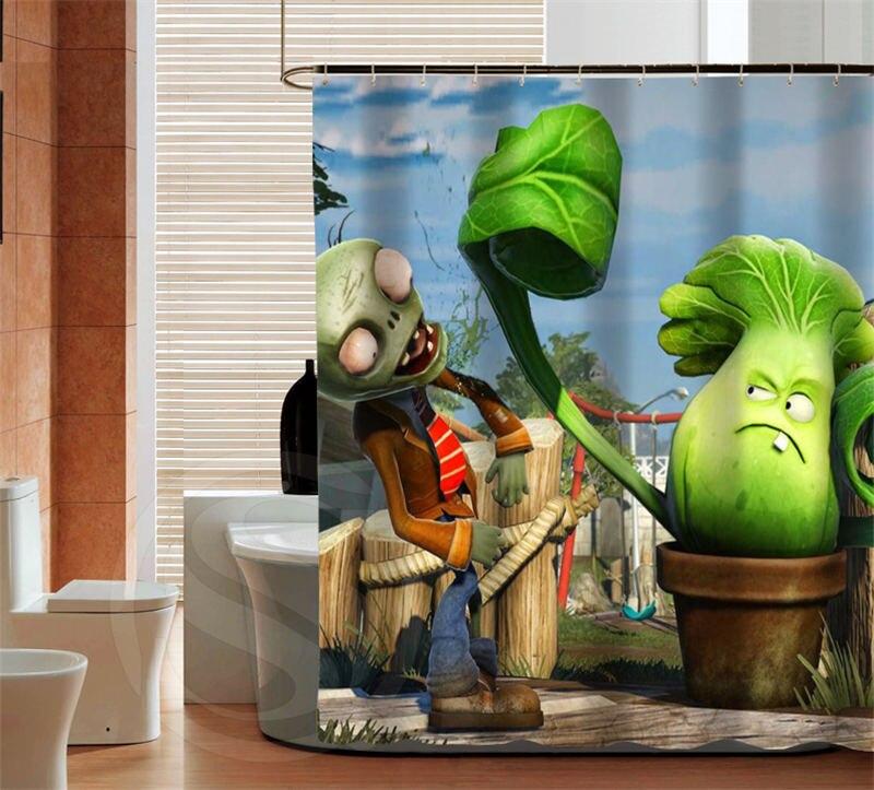Classic Plants vs Zombies latest fashion custom Shower Curtain Bathroom decor various sizes Free Shipping MORE SIZE SQ0428-ZHH
