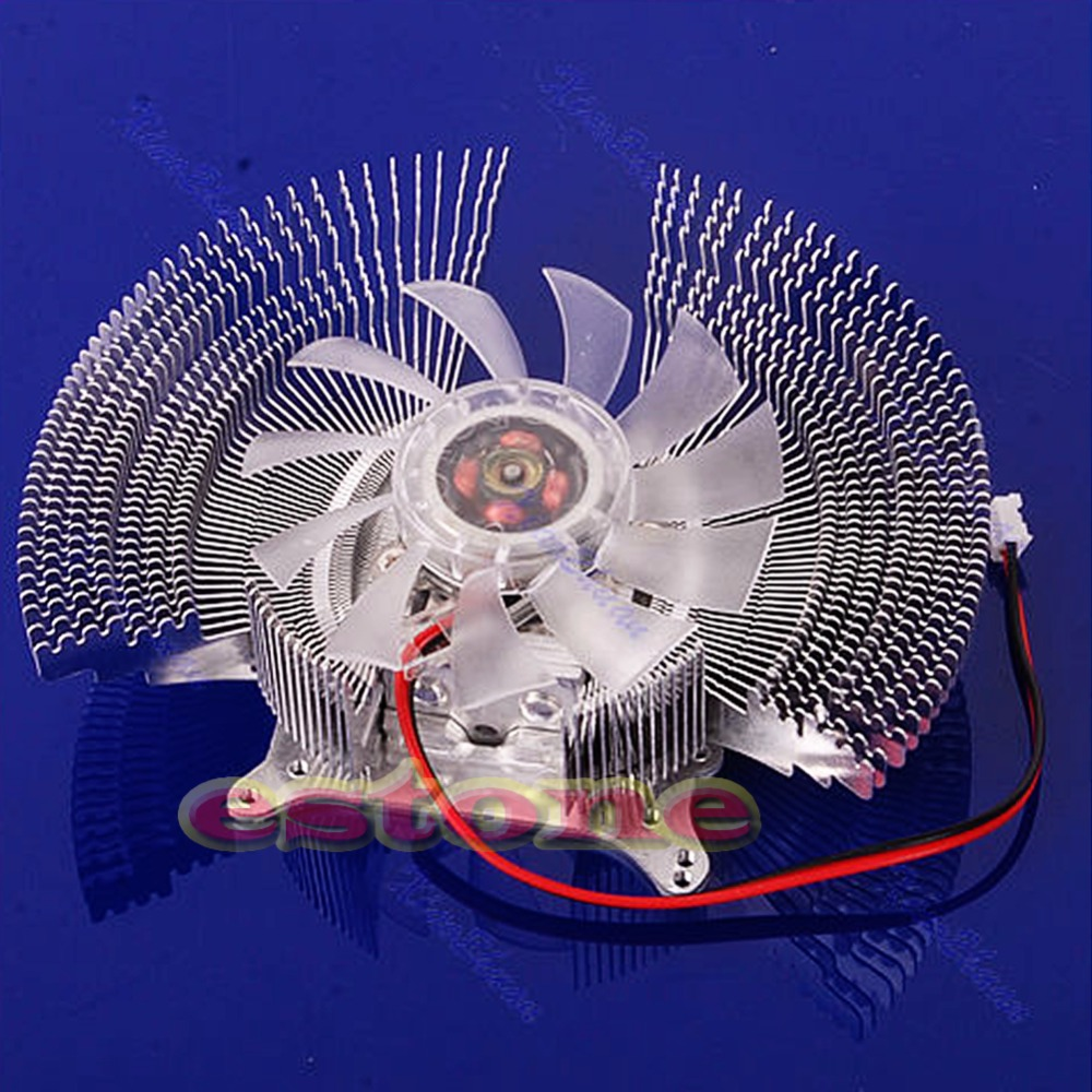VGA PC Computer Video Card Cooler Cooling Fan Heatsinks 4 VGA Card Installation Holes 2-Pin Cooler for Graphics Card Cooling 55mm aluminum cooling fan heatsink cooler for pc computer cpu vga video card bronze em88