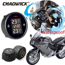 Quality Waterproof Motorcycle Real Time Tire Pressure Monitoring System TPMS Wireless LCD Display External Sensors CHADWICK 777 waterproof motorcycle tire pressure monitoring system tpms wireless lcd display internal or external th wi sensors