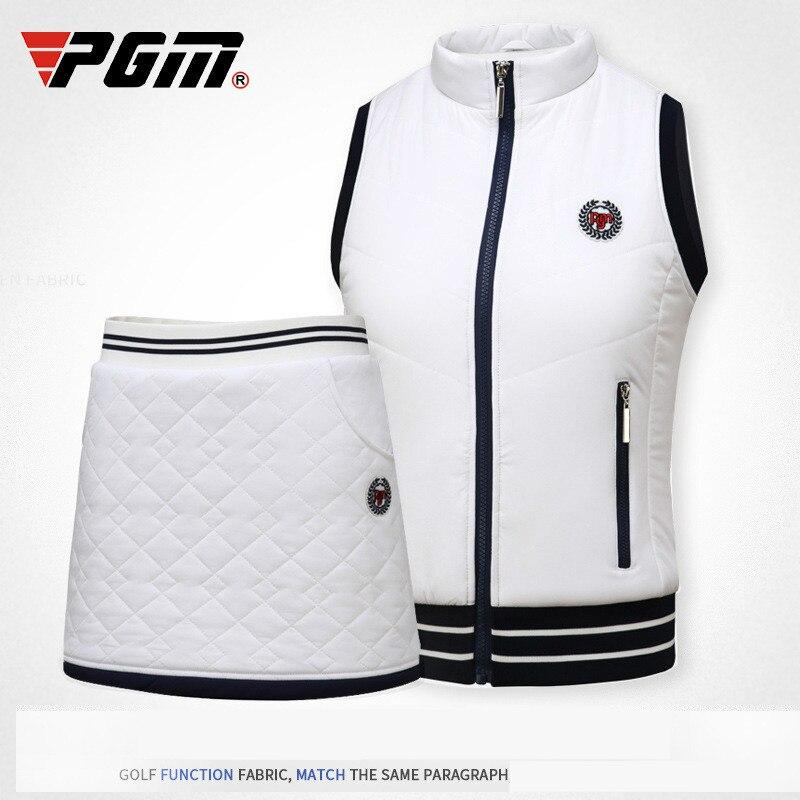 2018 PGM Winter Clothes Wear Autumn Warm Vest Thick Velvet Golf Jackets For Women Outdoor Waistcoat Windproof Vest Size S-XL columbia women s mighty lite iii vest