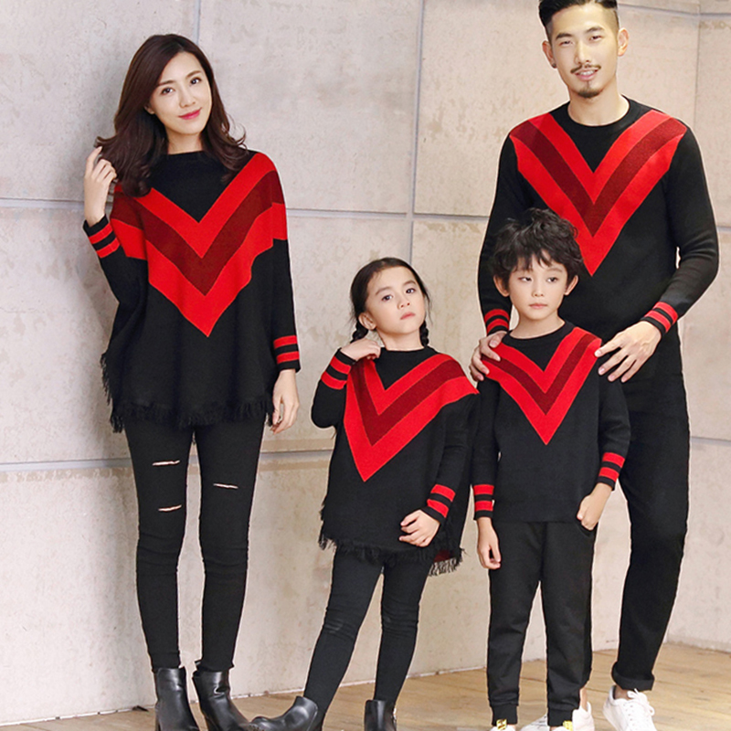 5499c696a Detail Feedback Questions about Matching family christmas sweaters mother  and daughter clothes dress father and son tshirt red batwing sleeve knit  tops ...
