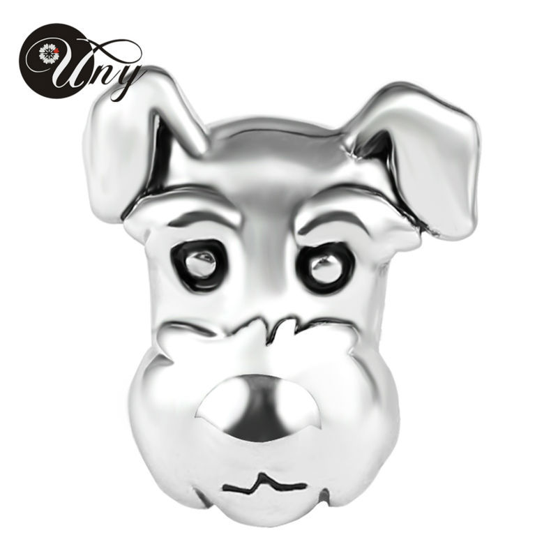 UNY Beads puppy dog bead fit pandora charms bracelets guaranteed Beads 925 silver Animal Bead Fit Pandora Fashion Charms Vintage