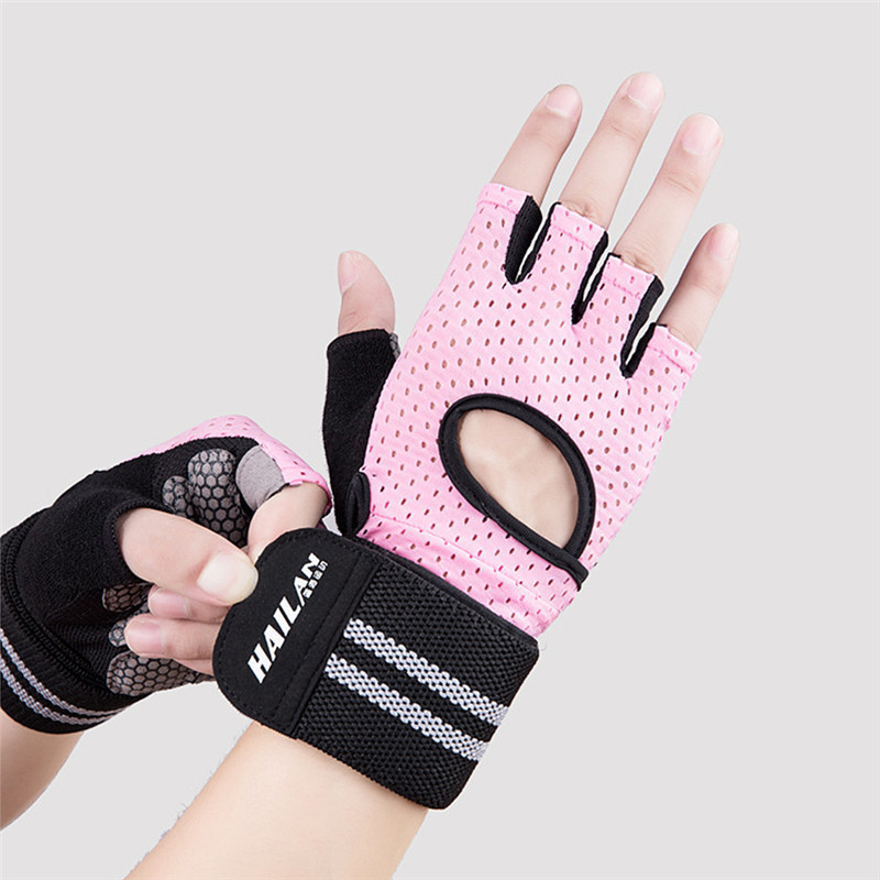 Half Finger Gym Gloves Sport Gloves Weight Lifting Bodybuilding Powerlifting Workout Horizontal Bar Training Fitness Gloves buff sport series water 2 gloves