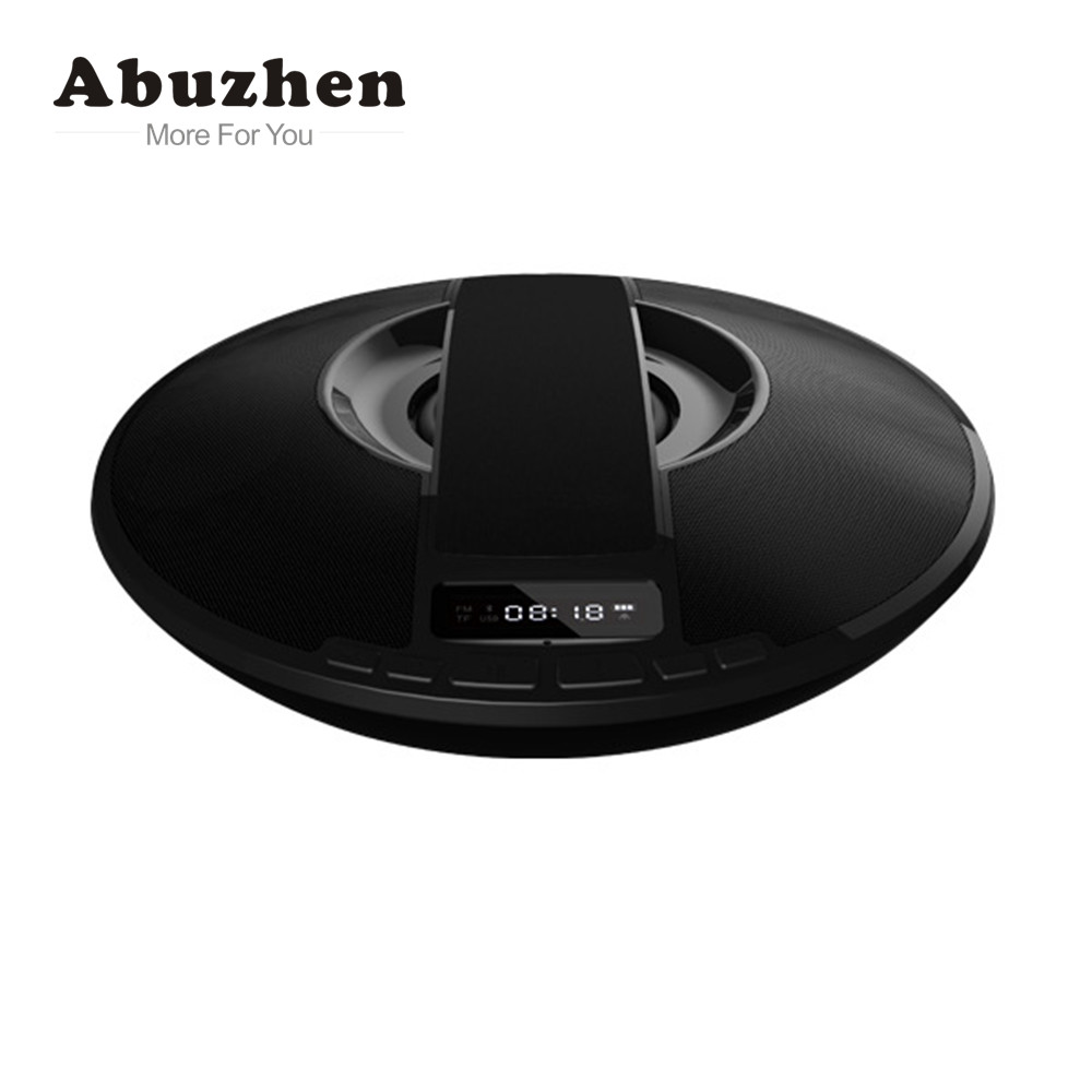 Abuzhen HiFi Bluetooth Wireless Speaker Stereo Audio Portable Speaker Support FM Alarm Clock Audio input with Mic with Handsfree