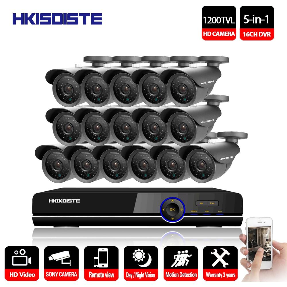 HKIXDISTE HD Sony font b CCTV b font System 16CH DVR 1080P HDMI Home Video Surveillance