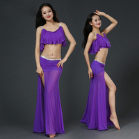 Professional Belly Dance Clothes 2pcs Belly Dance Set Dance Top Belly Dance Skirt Girls Latin Dance