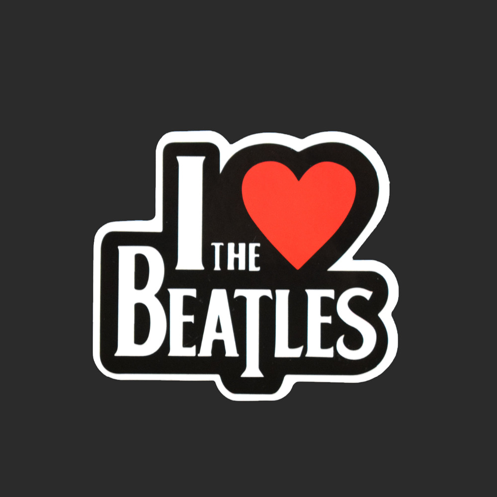 I Love the Beatles  Single Text Sticker Car Styling Waterproof Fashion Tied Brand Stickers Luggage Skateboard Funny Decals